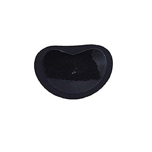 QinMM Rellenos Bikini Bra Pecho Almohadillas Sujetador Pads Inserciones de Silicona Mejora de Mama Shaper Empuje Push up (Negro)