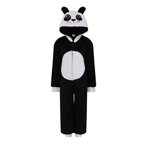 Tweens Kostüm Einhorn Für - Mädchen Kinder mit Kapuze Einhorn Bademantel Einteiler Kostüm Nachtwäsche Kuschelig Weihnachten Geschenkidee - Panda, 110-116