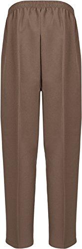 WearAll - Damen Übergroße Taschen Hose - 18 Farben - Größe 40-52 Mokka