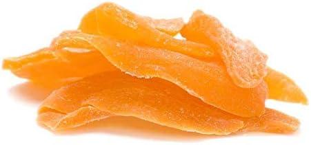 NatureVit Dried Mango Slices - 200 Grams | Dried Mango Sweet | Dehydrated Mango (Sugar Added)