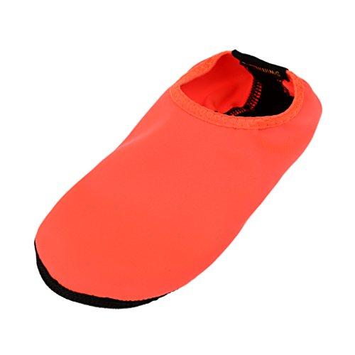 MagiDeal Neoprenschuhe/Strandschuhe/Aquaschuhe/Surfschuhe/Wasserschuhe/Badeschuhe/Schwimmschuhe Unisex für Damen, Herren - Orange, L (38-41)
