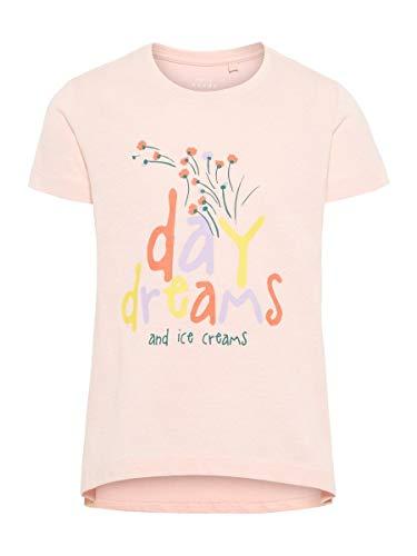 NAME IT Mädchen NMFVIOLET SS TOP H T-Shirt, Rosa Strawberry Cream, (Herstellergröße: 116)