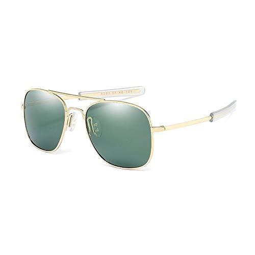 Polarisierte quadratische Rahmen-Mann-Bunte Mode-Reise, die Sonnenbrille-Gläser fährt Brille (Color : Dark Green, Size : Kostenlos)