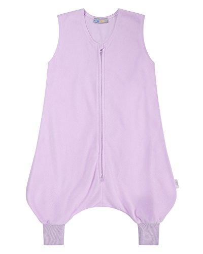 Kidsform Unisex Babyschlafsack mit Beinen Baby Pyjama Kinder Jumpsuit Nachtwäsche Kinder Schlafsack Lila S (Schlafanzug Lila Jungen)