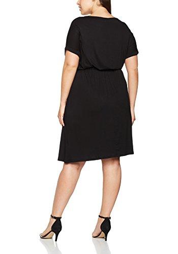 Dorothy Perkins Curve Jersey Bar Midi, Robe Femme Noir