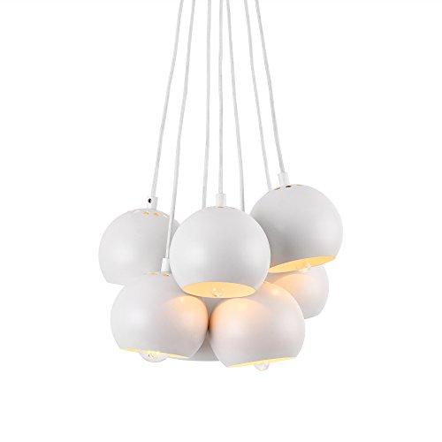 Hängeleuchte 7 Kugelförmige Lampen weiß - 42,99 €