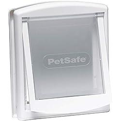 PetSafe - Petite Porte pour Animaux d'Origine Staywell (S) - Résistante - Panneau de Fermeture Inclus - Blanc