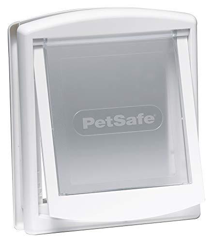PetSafe Staywell Haustierklappe S Weiß, 2 Verschlussoptionen, Teleskoprahmen, wetterresistent, 23,60 cm x 19,60 cm