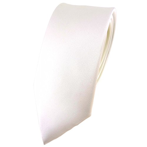 TigerTie - Cravate - Uni - Homme ecru blanc
