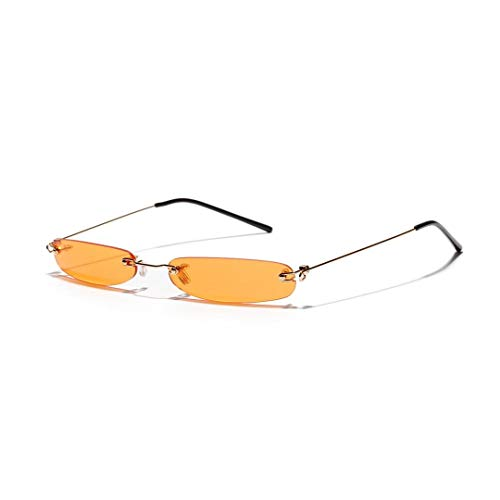 WULE-RYP Polarisierte Sonnenbrille mit UV-Schutz Mode Ultra Small Frame Sonnenbrillen, Marine Farbe Linsen für Frauen. Superleichtes Rahmen-Fischen, das Golf fährt (Farbe : Orange)