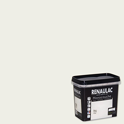 Renaulac Peinture Monocouche Multisupports Blanc Ivoire Satin 0,75L   8m²