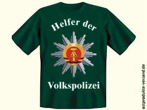 Tshirt Helfer der Volkspolizei grün | Ossi Produkte | DDR Geschenke