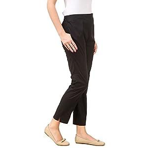 SriSaras Women's Regular Fit Formal Trousers