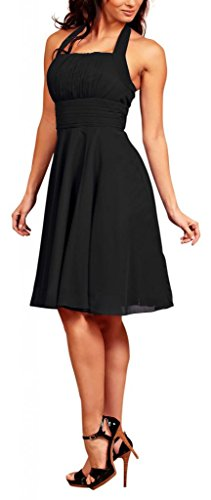 MY EVENING DRESS - Robe -  - Dos nu - Sans manche Femme Noir