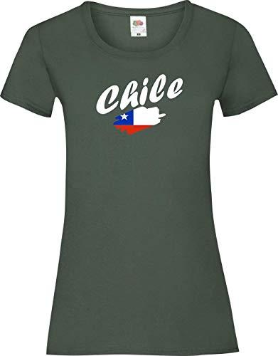 Shirtinstyle Camiseta mujer WM Camiseta país Chile