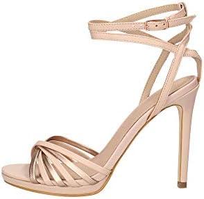 Guess Tonya2/Sandalo (Sandal)/Leathe, Zapatos con Tacon y Correa de Tobillo para Mujer, Rosa (Pink Blush), 40 EU