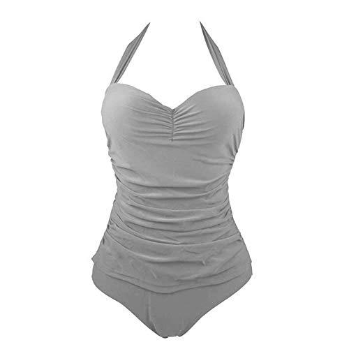 Fishyu Frauen-Dame Swimming Swimsuit Solid Color drücken Breathable Badebekleidung der Art und Weise hoch Neu