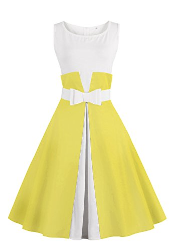 Babyonline® Damen Retro Abendkleider Ärmellos Vintage 1950er Jahre ...