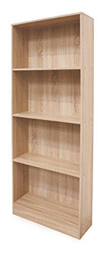 Galileo-Casa-Home-Libreria-4-Piani-in-Mdf-Legno-Marrone-73-x-24-x-170-cm