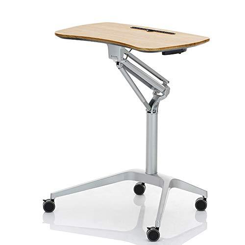 Zhuozi FUFU Tische Tragbarer Laptop-Standplatz-Wagen mit Mausunterlage, höhenverstellbar, 360 ° -Drehung, abschließbare Rollen Drop-Blatt-Tabelle