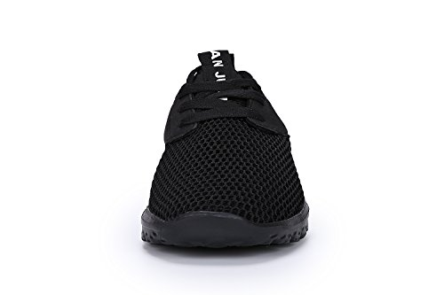 Juan Men's Lightweight Fashion Mesh Sneakers Breathable Athletic Outdoor Casual Sports Running Shoes (MEN,43EU/9.5US, Black)