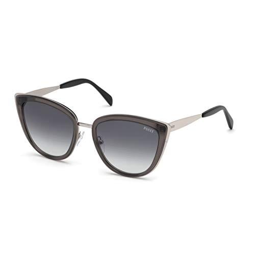 Emilio Pucci Unisex-Erwachsene EP0092 20B 55 Sonnenbrille, Grau (Grigio)