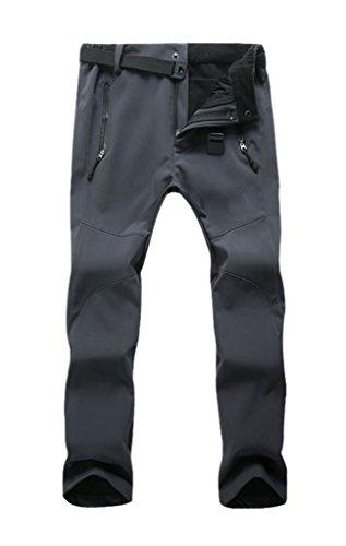 Geval Damen Outdoor Winddicht Wasserdichte Softshell Fleece Schnee Ski Hosen Grau