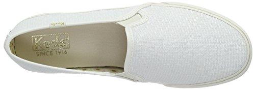 Keds - Double Decker, Scarpe da ginnastica Donna Beige (Beige (Bianco sporco))