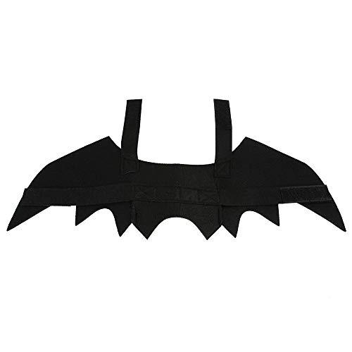 Kostüm Einfach Lustig - DuYanDY Halloween Haustier Fledermaus Flügel Kostüm Spaß lustige einfache Brust Vier Jahreszeiten universal, schwarz