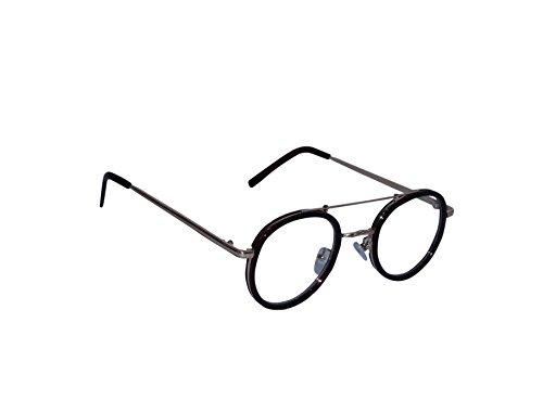Berk Rich Feel Oval Sunglasses for men and women (Black, Transparent)