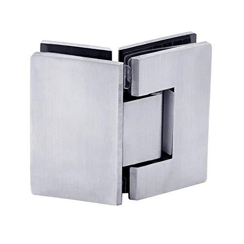 as-Scharnier Glashalterung Glas-Tür Dusche Duschkabine Badezimmer Türband Beschläge Massiv + Zubehör ()