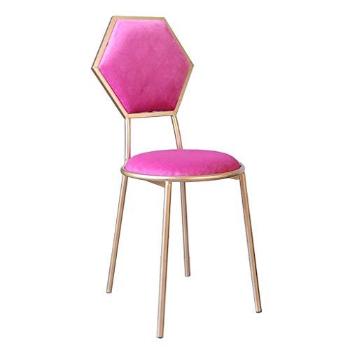 Barhools Stuhl mit Back für Kitchen/Bar Gold Metal Legs-Velvet Upholstered Seat-48cm Pub Höhe-Modern Leisure Dining Chairs Vanity Stool,Red