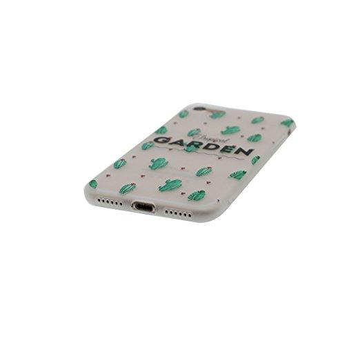 iPhone 6S Copertura,iPhone 6 Custodia,Ultra copertina protettiva del fumetto della pelle TPU del gel di silicone molle eccellente sottile di cristallo TPU case cover per il iPhone 6 / 6S-cactus #1