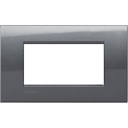 BTicino LNA4804AC Livinglight AIR Placca 4 Moduli, Quadra,...