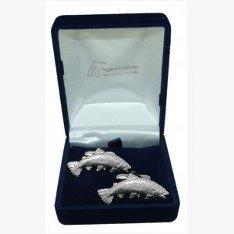 Forellenangeln Manschettenknöpfe, Hochzeitsgeschenk, Trauzeuge, Amtsdiener, wird in Organza-Beutel geliefert