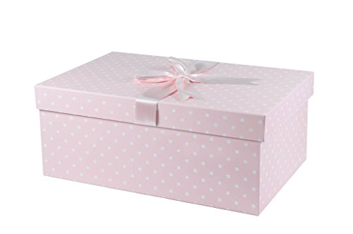 X Groß Handmade Hochzeit Kleid Box (Einfache Blumen pink) 75cm x 50cm x 30cm