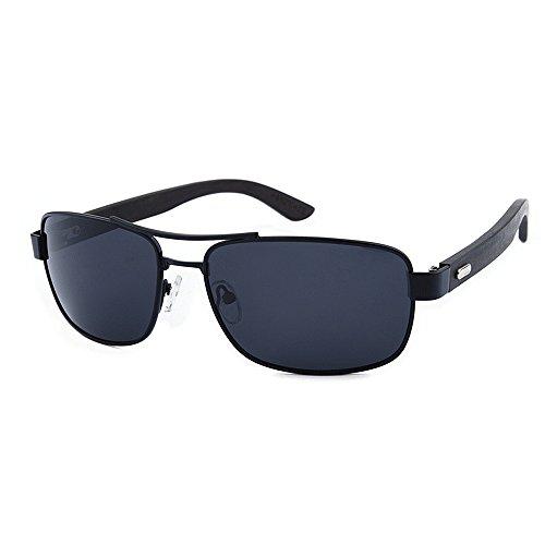 Occhiali da sole polarizzati unisex montatura classica in metallo gamba in legno unisex occhiali da sole polarizzati lente colorata tac protezione uv artigianato per uomo donna uv400 marca occhiali