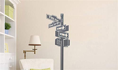 Wandtattoo Schlafzimmer New York-Straßenschild-Wall Street-Ausgangsdekor-Rauminnenwohnzimmer -