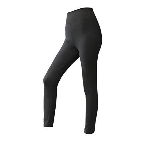 Man9Han1Qxi Frauen Laufen Sport Bauch Kontrolle Stretch Leggings Schwitzen Yoga Hosen Hosen Slim Fit Sporthose Enge Hosen Black L