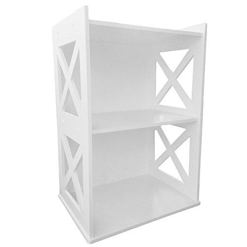 DIY Bianco per dolci Scaffale Libreria unità stile scaffale Storage