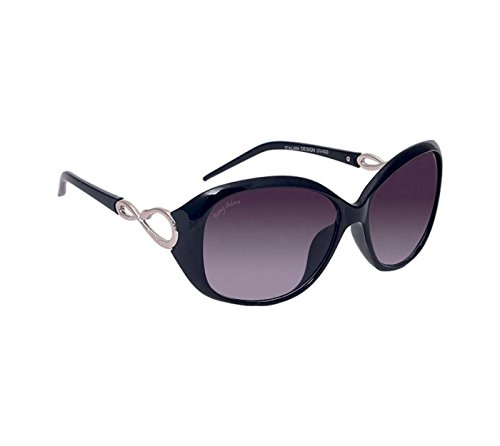 Being Adam Anti-Reflective & UV-Protected Oval Women's Sunglasses (22Black Grey Oval ladies|51|Purple)