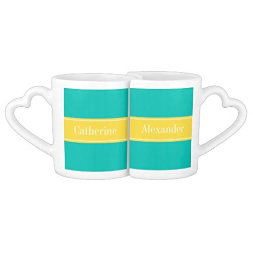Siuenk colore: foglia di tè, Ananas, nome Monogram Couples