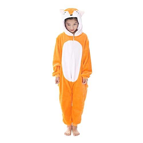 loween Weihnachten Cosplay Fox Thicken Nachtwäsche Eltern Kinder Hausbekleidung, Kid, 4-5T ()