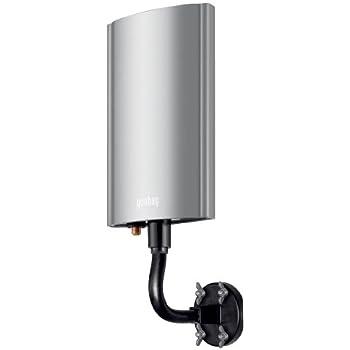Goobay Antenne DVB-T active d'extérieur - pour réception de programmes DVB-T/DVB-T2 (TNT) avec amplification de 20 +/- 3 dB - argent