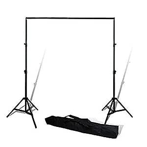 WON BRAND - Backdrop Photography kit Photo Light Studio 9 X 9 FEET (Backdrop Stand)