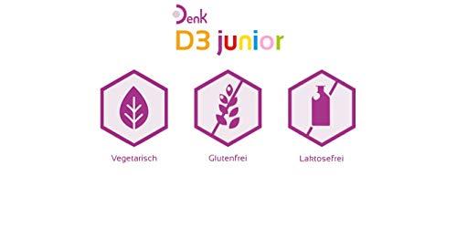 Denk D3 junior – Vitamin D für Säuglinge und Kleinkinder – Nahrungsergänzung ab der Stillzeit – 100 Tabletten - 5