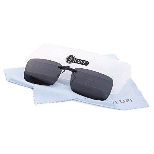 LUFF Herren Polarisiertem Klipp auf Sonnenbrillen für Prescription / Myopie Brillen Outdoor / Fahren Klein Schwarz