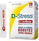 L'anti-stress numéro 1 en France ! La formulation de D-Stress® Booster est une véritable référence sur le marché du complément alimentaire anti-stress et fait l'objet d'un brevet international. D-Stress® Booster est complémentaire de D-Stress® classi...