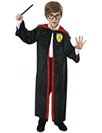 BOYS GIRLS HARRY CHILD WIZARD KIDS FANCY DRESS ROBE OUTFIT COSTUME 7 - 9 YEARS INCLUDES GLASSES
