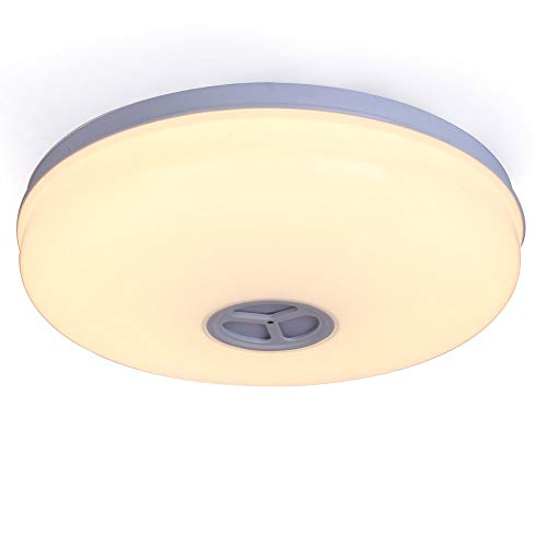 HOREVO 24W WLAN Wifi LED Deckenleuchte Deckenlampe mit Fernbedienung Dimmbar, Smart Home Lampe, Kompatibel mit Amazon Alexa, IP65 Wasserdichte Badezimmerleuchte, Badezimmerlampe
